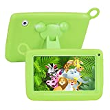 ?UPGRADED? TUFEN Tablet for Kids, 7' HD Eyes-Protection Screen with Silicone Bumper (1GB RAM + 8GB ROM, Android 6.0, Playstore, Youtube, Netflix, PARENT-CONTROL IWAWA, Wireless Internet) (Q758 Green)