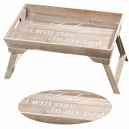 LS-Design-Frhstckstablett-Bett-Tisch-Tablett-Serviertablett-Holz-klappbar-braun-gekalkt-Shabby