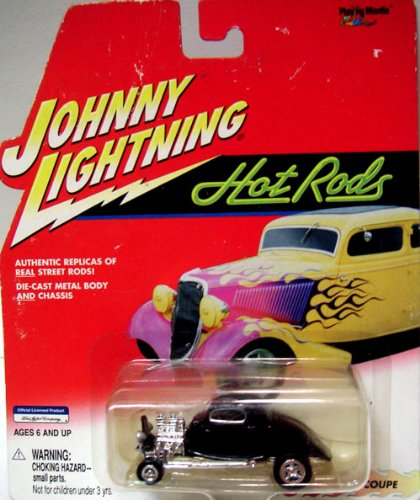 JOHNNY LIGHTNING HOT RODS 1934 COUPE 1:64 DIE CAST METAL