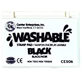 Center Enterprise CE506 Washable Stamp Pads, Black