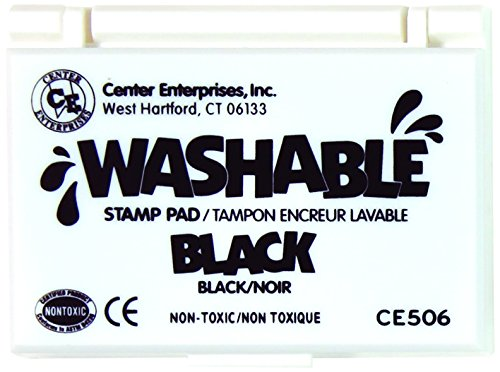 Center Enterprise CE506 Washable Stamp Pads, Black (Non Toxic Stamp Pad compare prices)