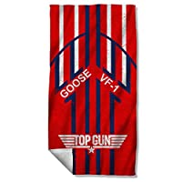 Top Gun 1986 Romantic Military Action Drama Movie Goose Beach Towel from Trevco
