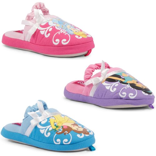 New Kids Girls Sleeping Beauty Jasmine Belle Disney Princess Slippers Slingback
