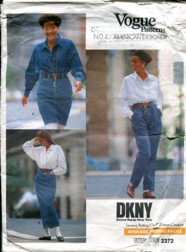 vogue-american-designer-donna-karan-new-york-dkny-pattern-2372-misses-skirt-pants-size-6-8-10-by-vog
