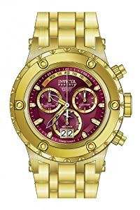 Invicta Men's 80490 Subaqua Quartz Chronograph Burgundy Dial Watch