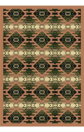 Joy Carpets Kaleidoscope Canyon Ridge Whimsical Area Rugs, 64-Inch by 92-Inch by 0.36-Inch, Cactus