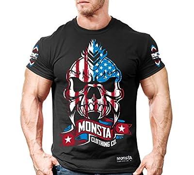 Monsta USA Skull-256 T-Shirt