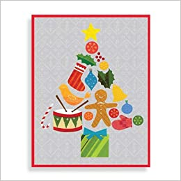 Tree Collage Boxed Draw Holiday Notecards: Lorena Siminovich