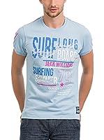 JACK WILLIAMS Camiseta Manga Corta (Azul Claro)