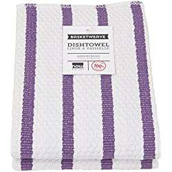 Now Designs Basketweave Kitchen Dishcloth, Set of Two, Prince Purple