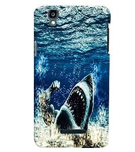 PrintVisa Animal Shark Ocean 3D Hard Polycarbonate Designer Back Case Cover for Yu Yureka PlusYU5510A