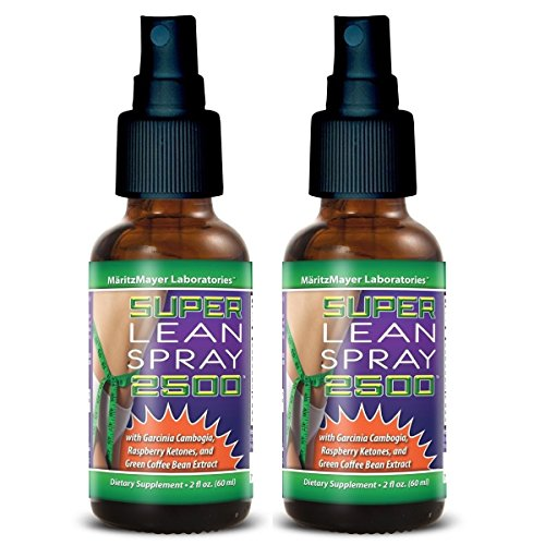 2X Super Lean Spray 2500 - Green Coffee Bean Extract, Raspberry Ketones, Garcinia Cambogia And More! 2X(2 Oz) | 2-Pack