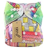 iZiv(TM) Recién Nacido Orgánico con 1 Inserte Grueso Infantil Impermeable/Ajustable/Reutilizable/Lavable Pañal de Tela de Bolsillo aptos Bebés 0-3 años(Hada)