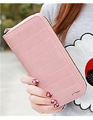 (Pink) Womens Women's Wallet Clutch Hand Purse For Women's Girls Ladies Long Wallet