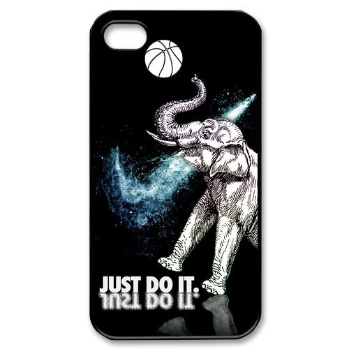 Funny Popular Elephant Apple Iphone 4S/4 Case Cover Nike Just Do It Basketball