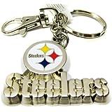 Silver Metal Pittsburgh Steelers Keychain