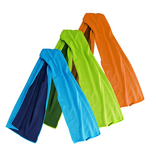 Cooling Towel, AK® Super Absorbent Snap Cooling Towels for Sports and Fitness (Blue)