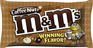 M&M'S Coffee Nut Peanut Chocolate Candy WINNING Flavor 10.20 Ounce Bag, Pack of 3