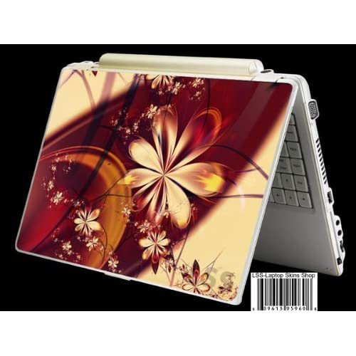 Laptop Skin Shop Laptop Notebook Skin Sticker Cover Art Decal Fits 13.3 14 15.6 16 HP Dell Lenovo Asus Compaq (Free 2 Wrist Pad Included) Flower Floral