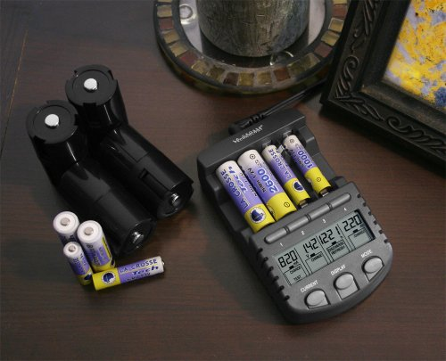 La Crosse BC-1000 智能充电器套装(含4节5号+4节7号充电电池)美国亚马逊