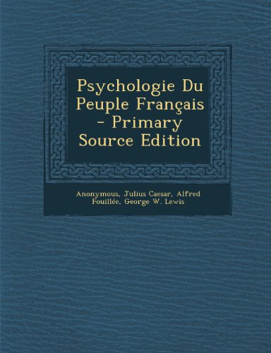 Psychologie Du Peuple Francais