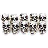 Approx. 10pcs Tibet Silver Skull Spacer Beads---Great DIY Accessories for Necklace, Bracelets and Earrings Making from Generic