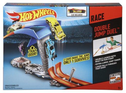 Double Parachute Race Car Kit : Hot wheels double jump showdown track set toys games
