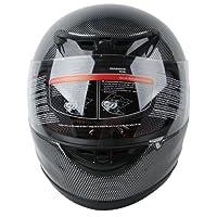 TCMT Adult Carbon Fiber Black Full Face Motorcycle Helmet DOT XXL by TCMT