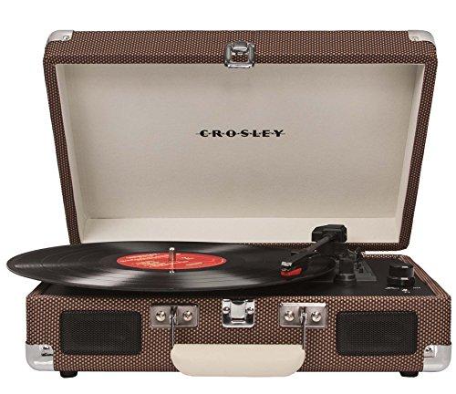 Crosley CR8005A-TW Cruiser Portable 3-Speed Turntable, Tweed