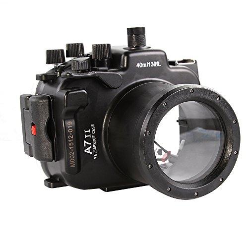 Fotga 40M 130ft Boîtier étanche Waterproof Underwater Housing Case pour Sony A7 II A7R II avec 28-70mm objectif