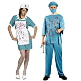 血まみれ医者 ドクター&ナース 衣装 コスチューム メンズ 160cm-175cm (並行輸入品)