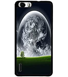 ColourCraft Moon View Design Back Case Cover for HUAWEI HONOR 6