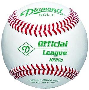 Diamond DOL-1 Official League NFHS Baseball (One Dozen) by Diamond Sports