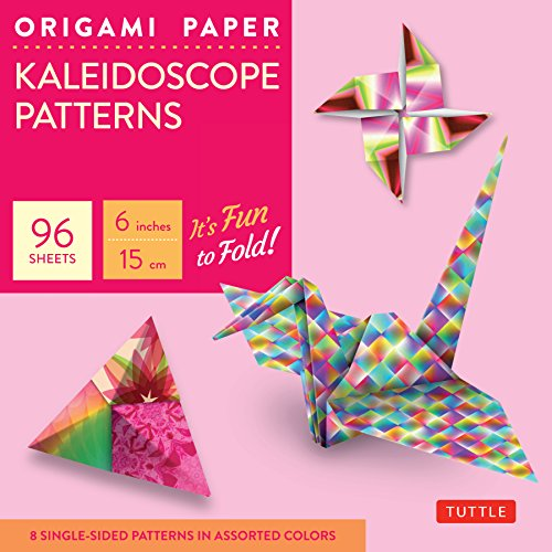 """Origami Paper - Kaleidoscope Patterns - 6"""" - 96 Sheets: (Tuttle Origami Paper)"""