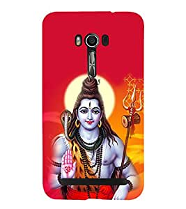 Lord Shiva Cute Fashion 3D Hard Polycarbonate Designer Back Case Cover for Asus Zenfone Go ZC500TG (5 Inches)