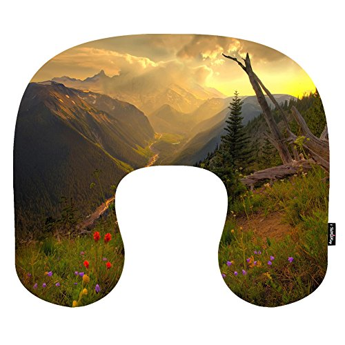 i-famuray-u-shape-car-neck-pillow-cushion-maternity-pillow-clouds-forest-landscapes-nature-sunset-va