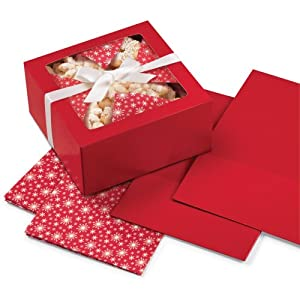 Wilton Three-Piece Treat Box and Liner Set - Red