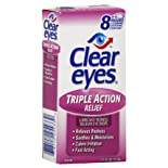 Clear Eyes Eye Drops, Triple Action Relief, .5 oz.