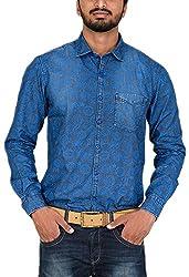 Botticelli Men's Denim Full Sleeve Shirt (3591-FULL-C-S_Denim_Small)