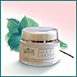 Face Garden by Wild Earth Naturals, Anti-Aging Face Moisturizing Cream, Healing Natural Antioxidant Moisturizer with Aloe Vera, Rose Distillate & Hemp Seed Oil. Hypoallergenic, Non-greasy Formula