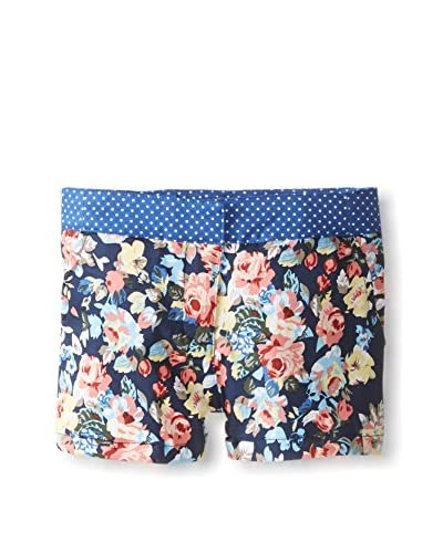 Andy & Evan Girl's License-To-Twill Floral and Polka Dot Shorts