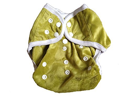 One Size Fit Most - Diaper Covers for Prefolds/Regular Inserts MINKY - GREEN