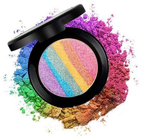 CINEEN Pro Arcobaleno Highlighter & Ombretto & Arrossire Palette Luccichio Evidenziazione di Lunga Durata Beauty Cosmetics Make Up Kit 6 colori