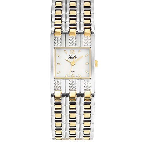 Joalia 634570-Bracciale da donna Bracciale orologio 045J699analogico bianco in metallo bicolore