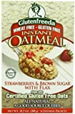 Glutenfreeda Instant Oatmeal, Strawberries and Brown Sugar, 10.2 Ounce