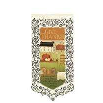 Heritage Lace Give Thanks/True Measure 12-Inch by 22-Inch Wall Hanging Ecru
