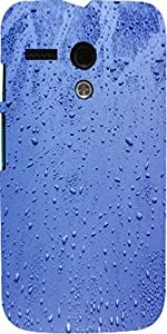 Snoogg Wet Surface Raindrops Background Designer Protective Back Case Cover F...