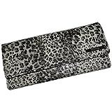 Kenneth Cole Reaction Women's Elongated Clutch Wallet Cheetah White/Black