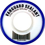 PTFE Plumbers Sealing Tape, Thread Lock Sealant -500 to 500 Degree, 3.5 mil thick, 480 inch Length,1/2 inch width, white - 1 pack