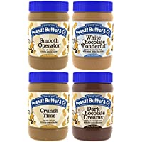 4-Pack Peanut Butter & Co. Non-GMO, Gluten Free, Vegan Peanut Butter 16-Ounce Jars